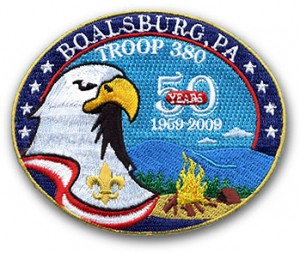 Troop 380 50th Anniversary Patch Design